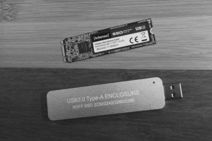 [DIY] Highspeed M.2. SSD - USB Stick mit viel Speicher und 400-500 MB/s Übertragungsraten einfach und günstig selbst bauen