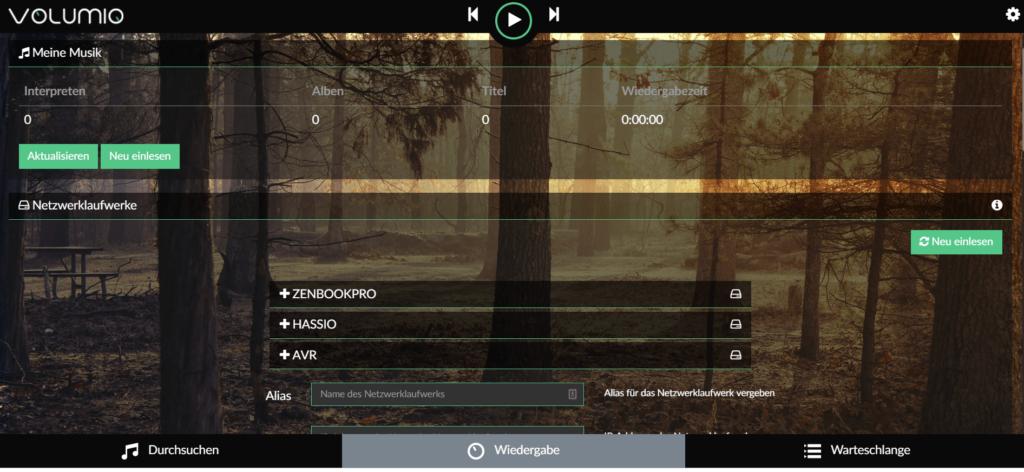 JustBoom Player Webinterace