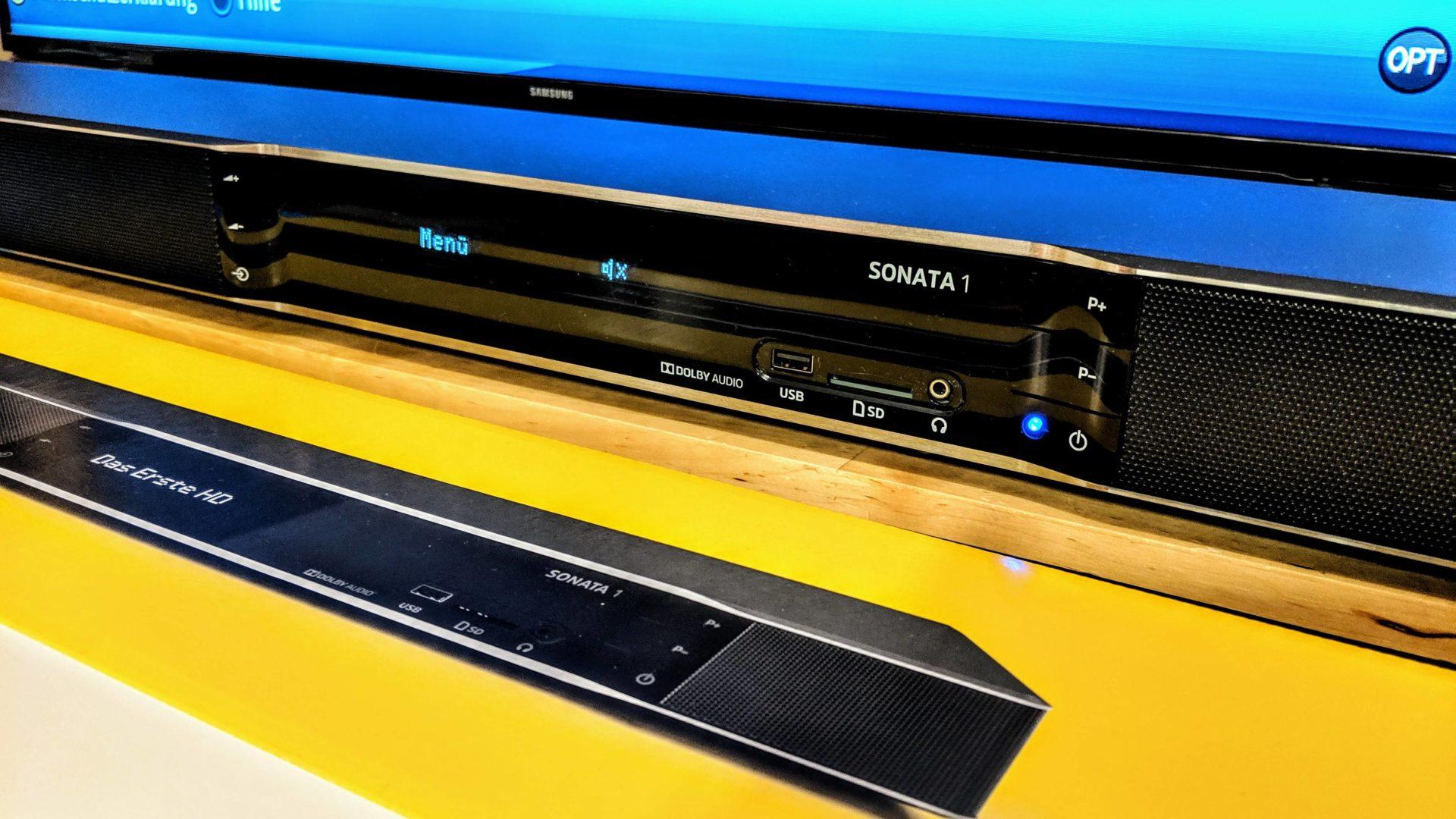 """Sonata 1 von Technisat - """"Bild und Ton werden eins"""". Die Soundbar mit UHD Reciever im Test"""