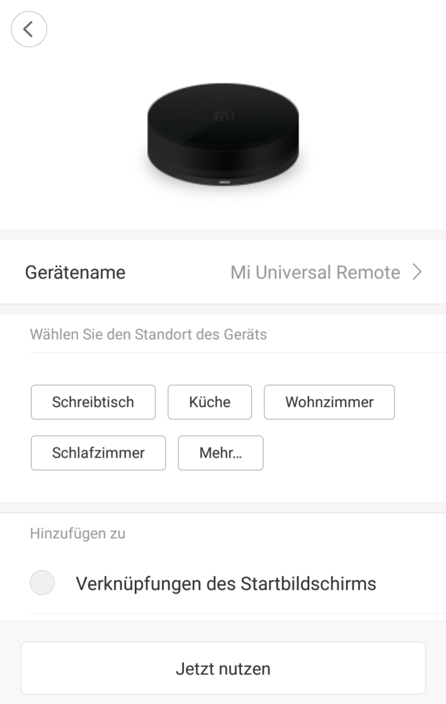 Xiaomi Universal 360° Infrarot Sender - Fernbedienungen Chaos adé 2