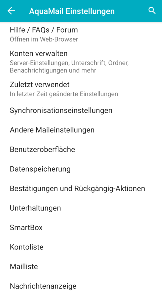 Empfehlenswerte, sichere Android Email Apps 10