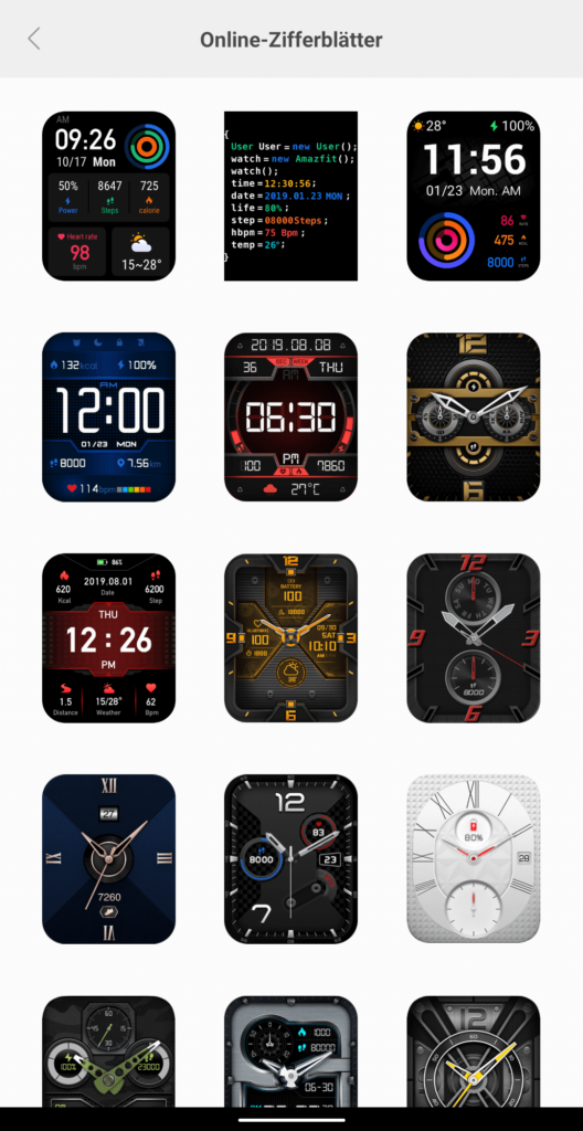 Amazfit GTS Watchfaces